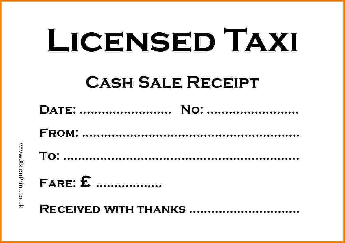 Taxi Receipt Template – Printable Receipt Template With Regard To Blank Taxi Receipt Template