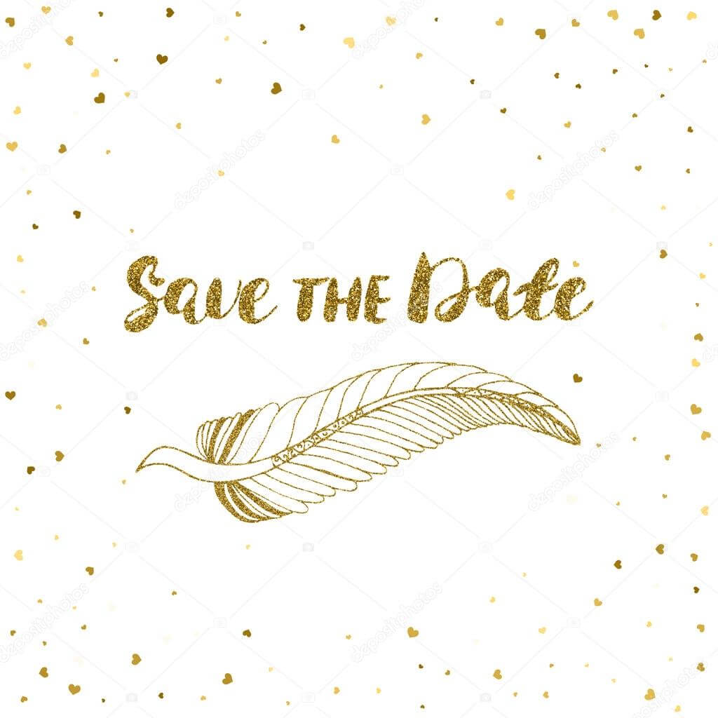 Template For Card, Banner, Flyer, Save The Date Invitation With Regard To Save The Date Banner Template