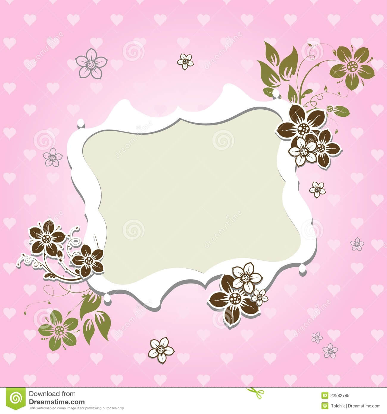 Template Greeting Card Stock Vector. Illustration Of Beauty With Regard To Free Blank Greeting Card Templates For Word