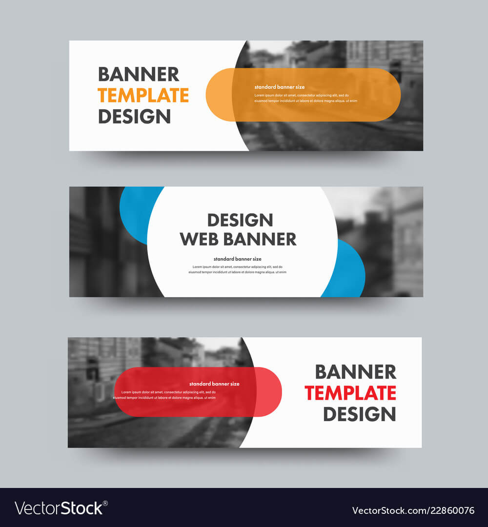 Template Of Horizontal Web Banners With Round And Inside Product Banner Template
