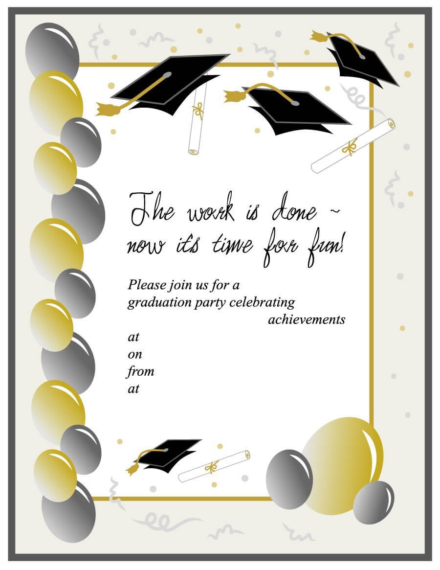 Templates For Graduation - Colona.rsd7 In Free Graduation Invitation Templates For Word