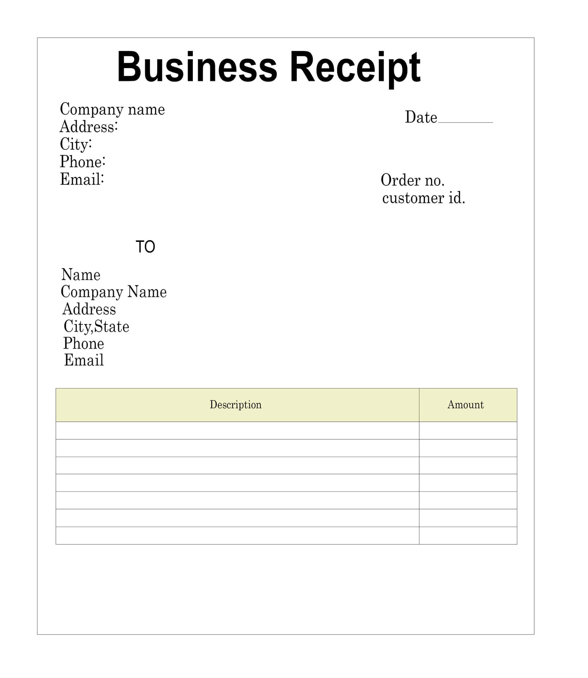 The Receipt Template In Blank Taxi Receipt Template