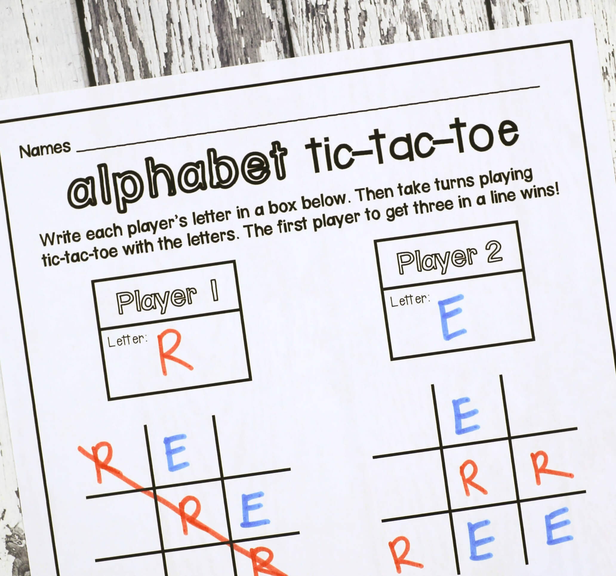 Tic Tac Toe - Playdough To Plato Intended For Tic Tac Toe Template Word