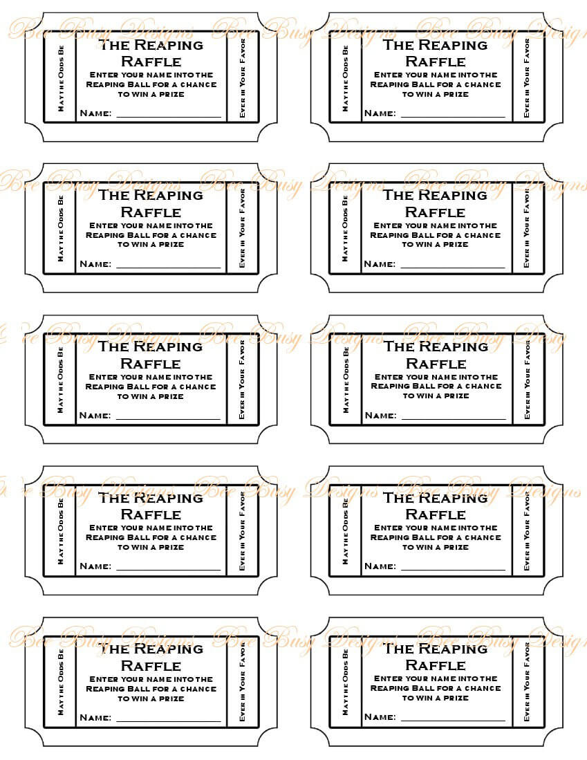 Tickets Template Free Download. On The Button And Make This Regarding Free Raffle Ticket Template For Word