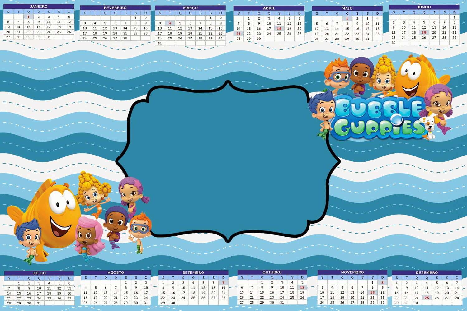 Tips: Pretty Bubble Guppies Invitations Design For Your Pertaining To Bubble Guppies Birthday Banner Template