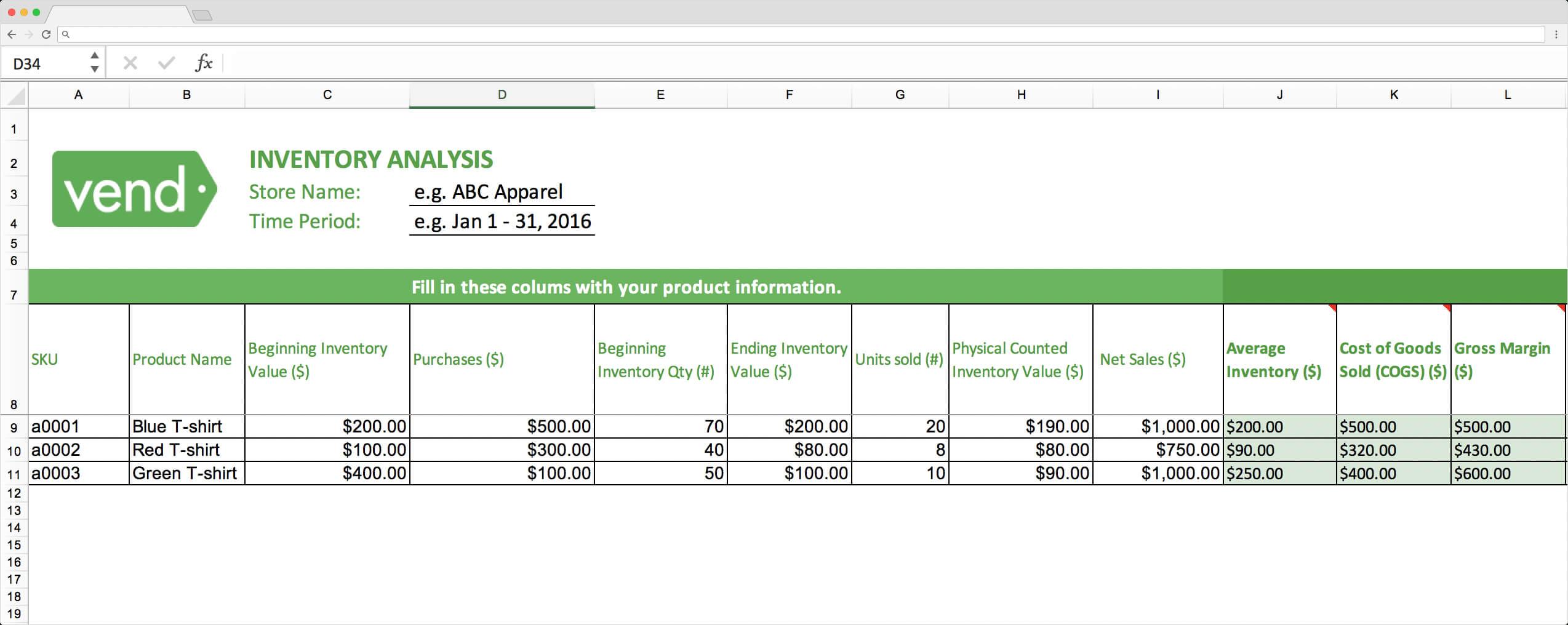 Top 10 Inventory Excel Tracking Templates – Sheetgo Blog Regarding Stock Analysis Report Template