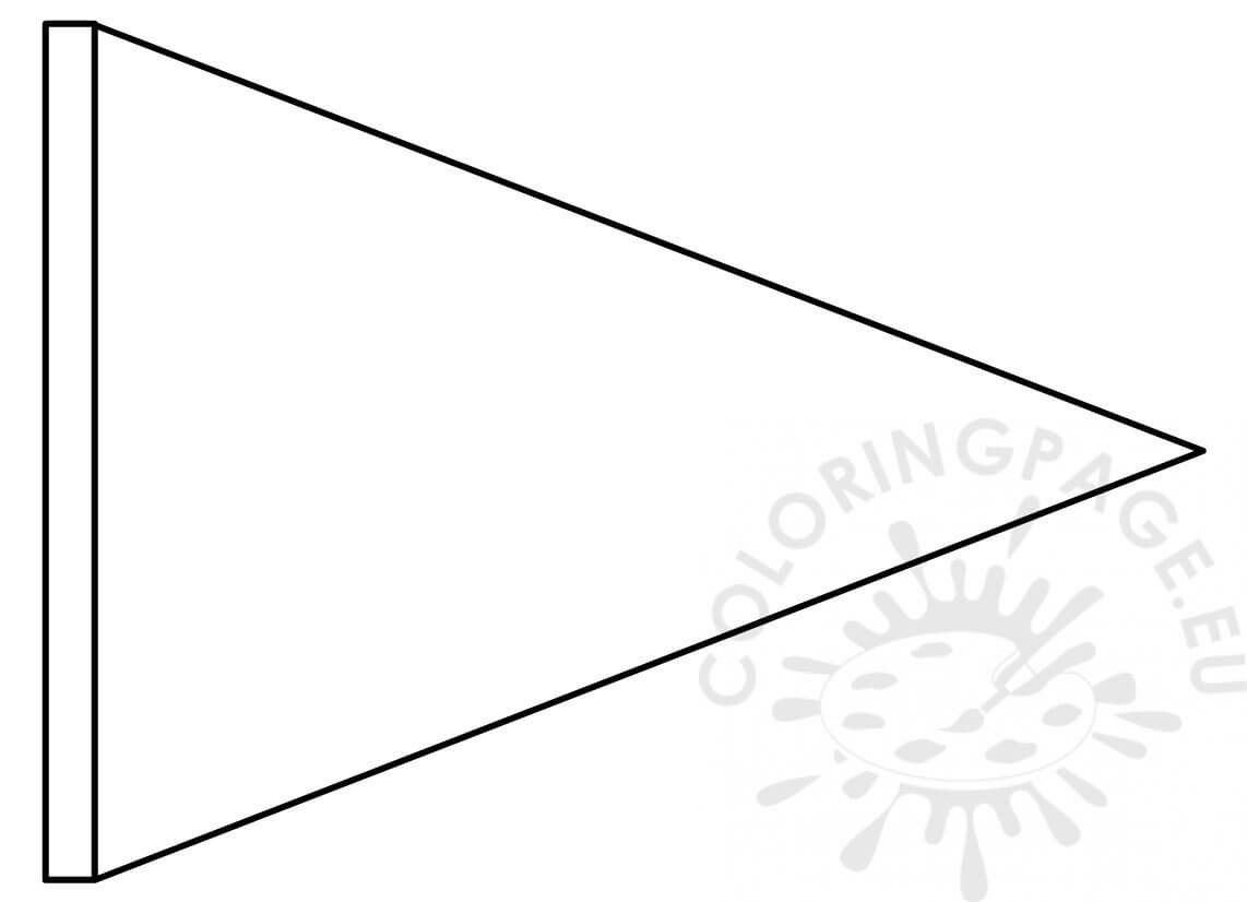 Triangle Flag Banner Template – Coloring Page With Triangle Pennant Banner Template