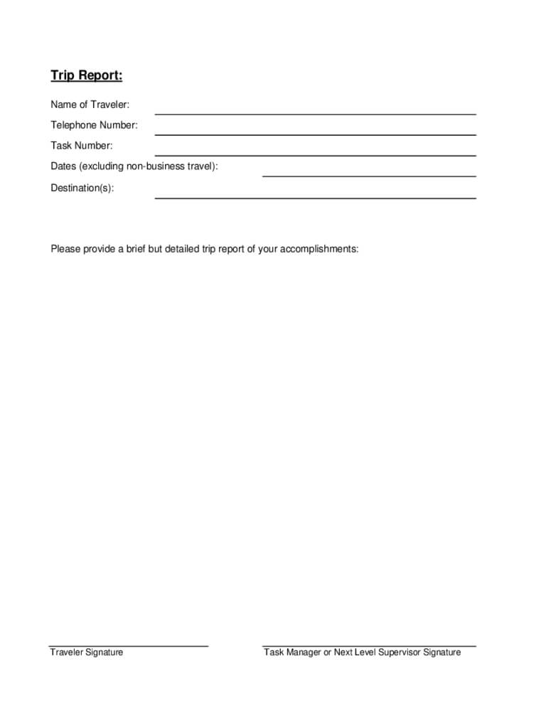 Trip Report Template – 3 Free Templates In Pdf, Word, Excel With Regard To Business Trip Report Template Pdf