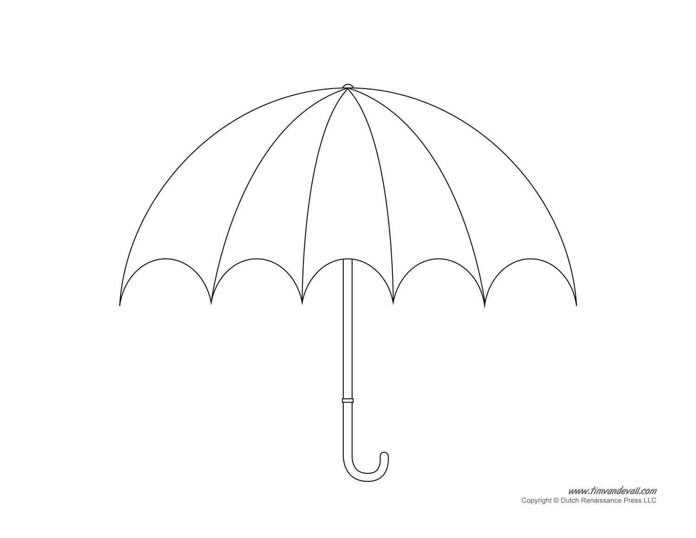 Umbrella Template - Clip Art Library In Blank Umbrella Template