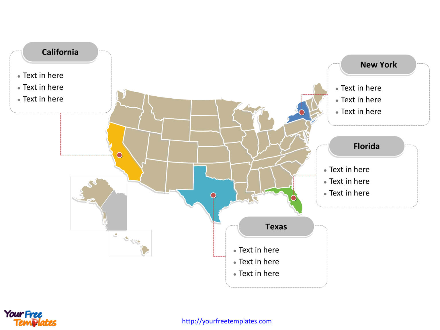 United States Map For Powerpoint – Tunu.redmini.co Intended For United States Map Template Blank