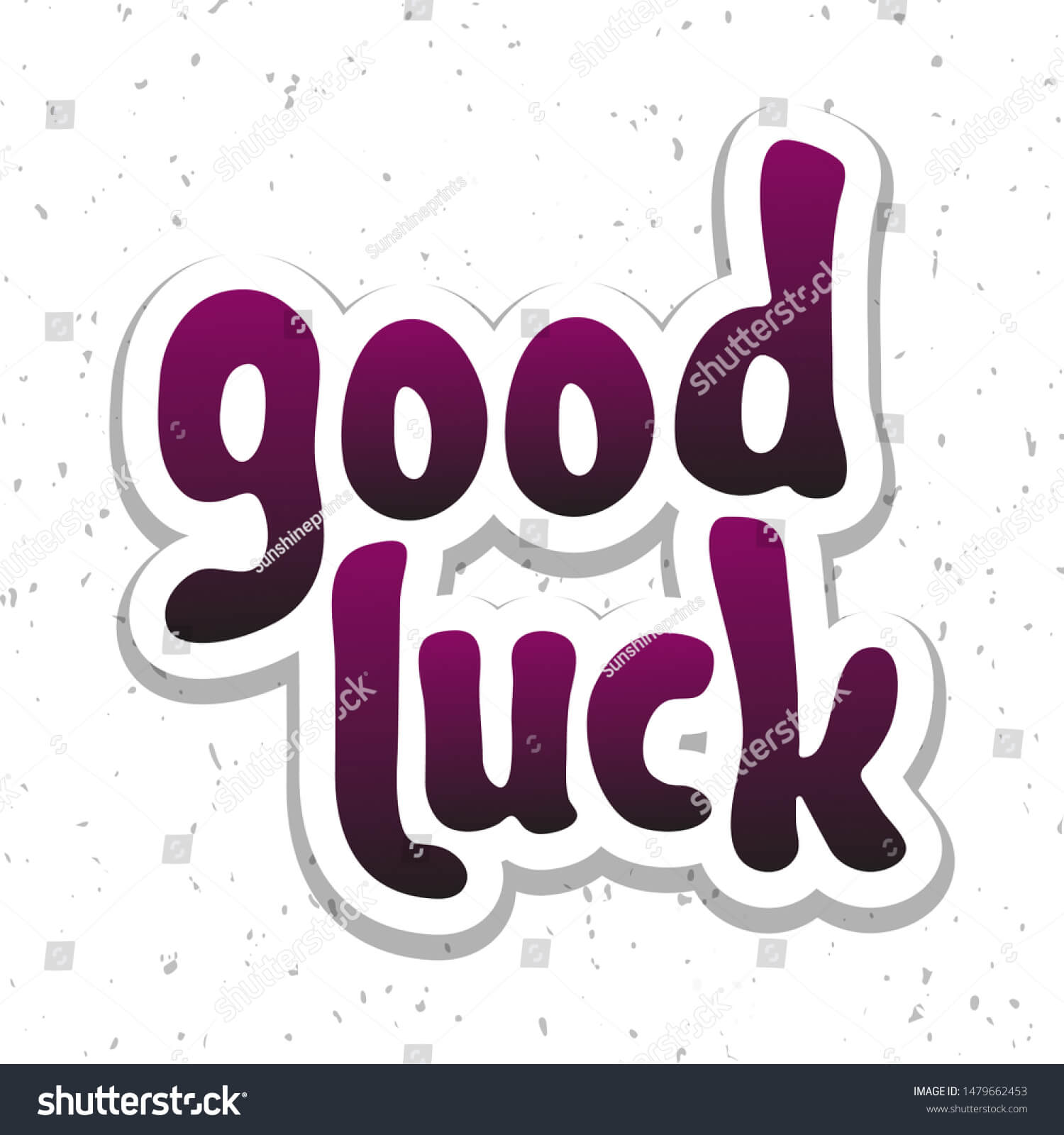 Vector Illustration Good Luck Lettering Quote Stock Vector With Regard To Good Luck Banner Template