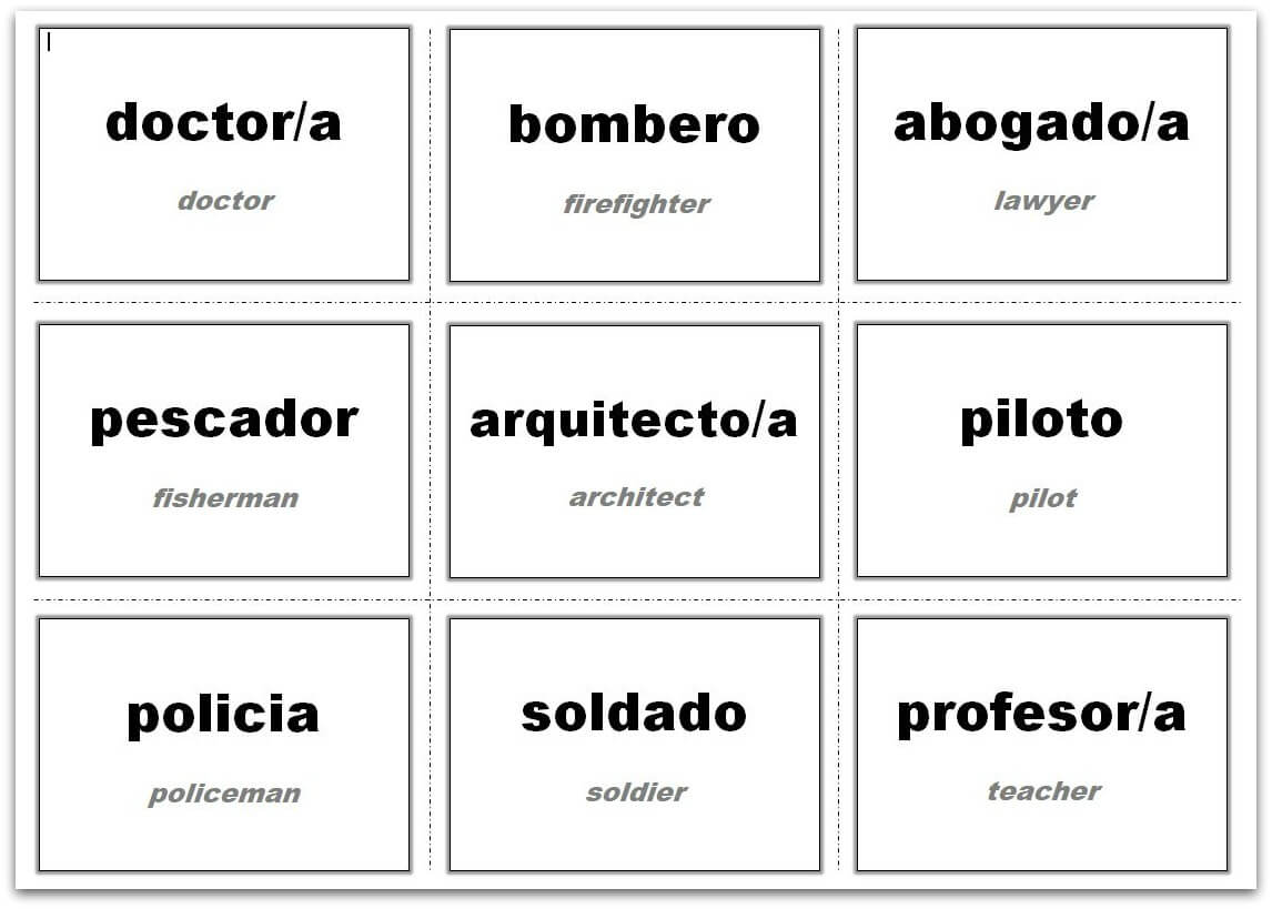 Vocabulary Flash Cards Using Ms Word With Flashcard Template Word