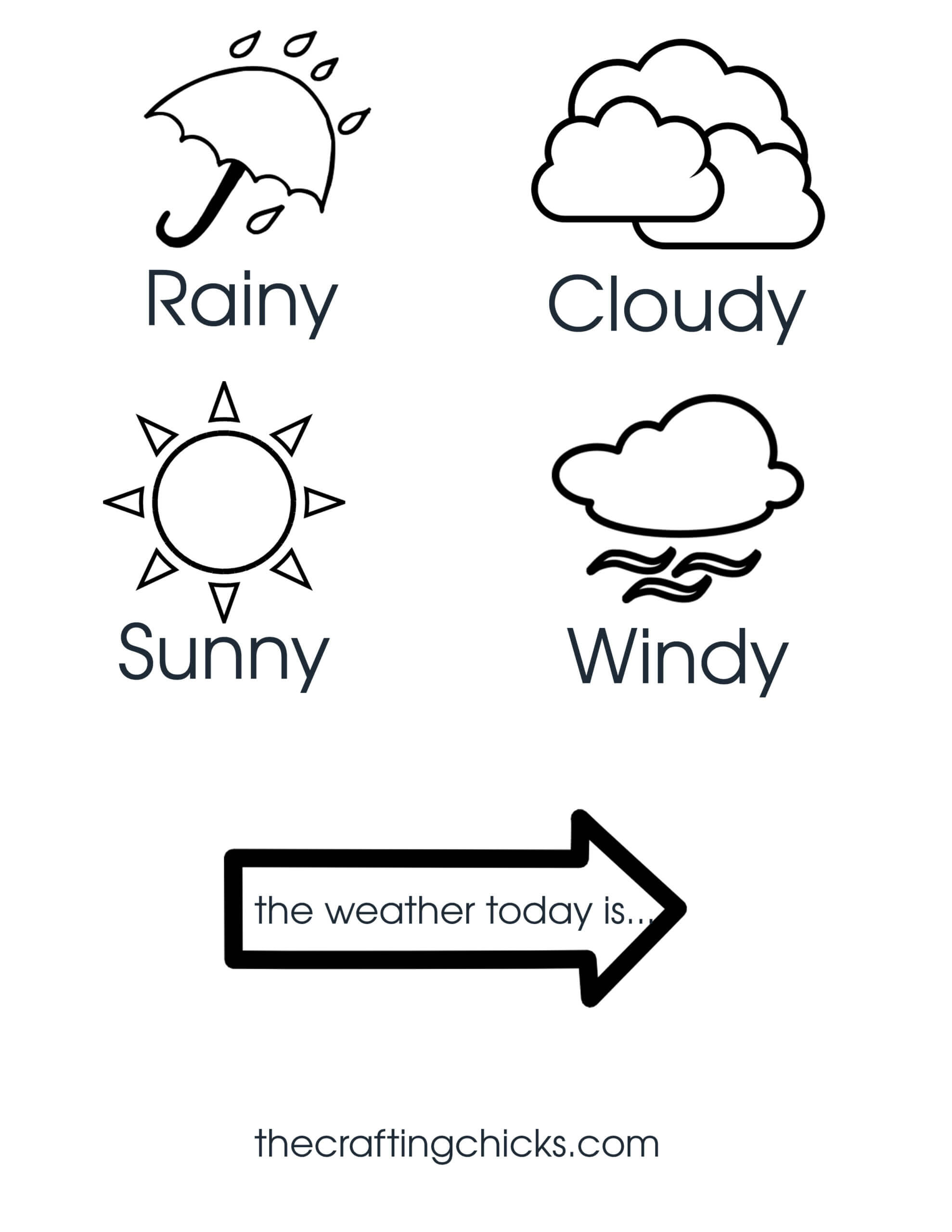 Weather Chart Kid Craft - The Crafting Chicks In Kids Weather Report Template