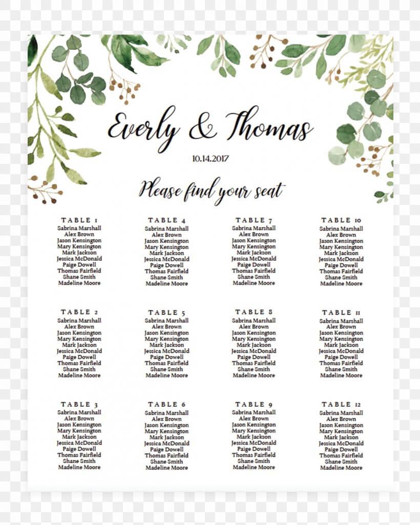 Wedding Invitation Seating Plan Template Table Microsoft Regarding Wedding Seating Chart Template Word