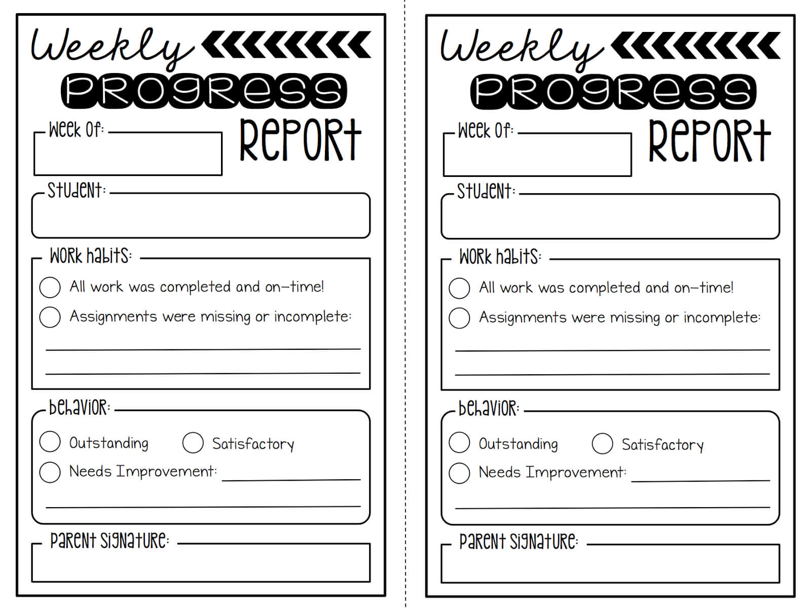 Weekly Behavior Report Template ] – Search Results For Throughout Behaviour Report Template