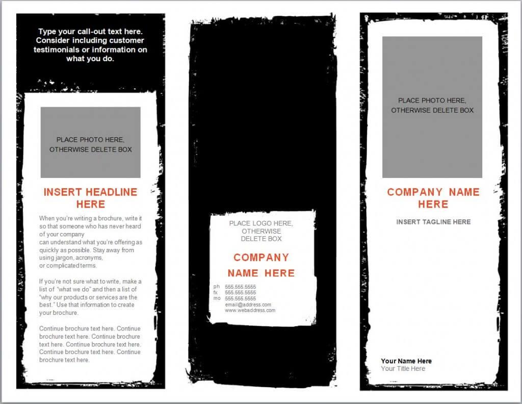 Word Brochure Template   Brochure Templates Word Regarding Microsoft Word Pamphlet Template