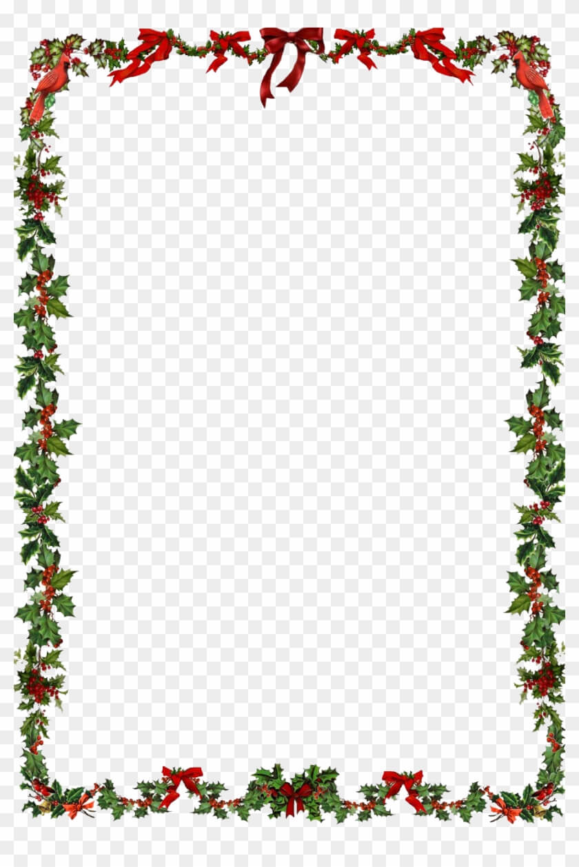 Word Document Christmas Border Clipart For Word Pertaining To Christmas Border Word Template